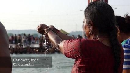 Décollage immédiat/ sacrée baignade à Haridwar