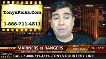 MLB Pick Texas Rangers vs. Seattle Mariners Odds Prediction Preview 5-21-2014
