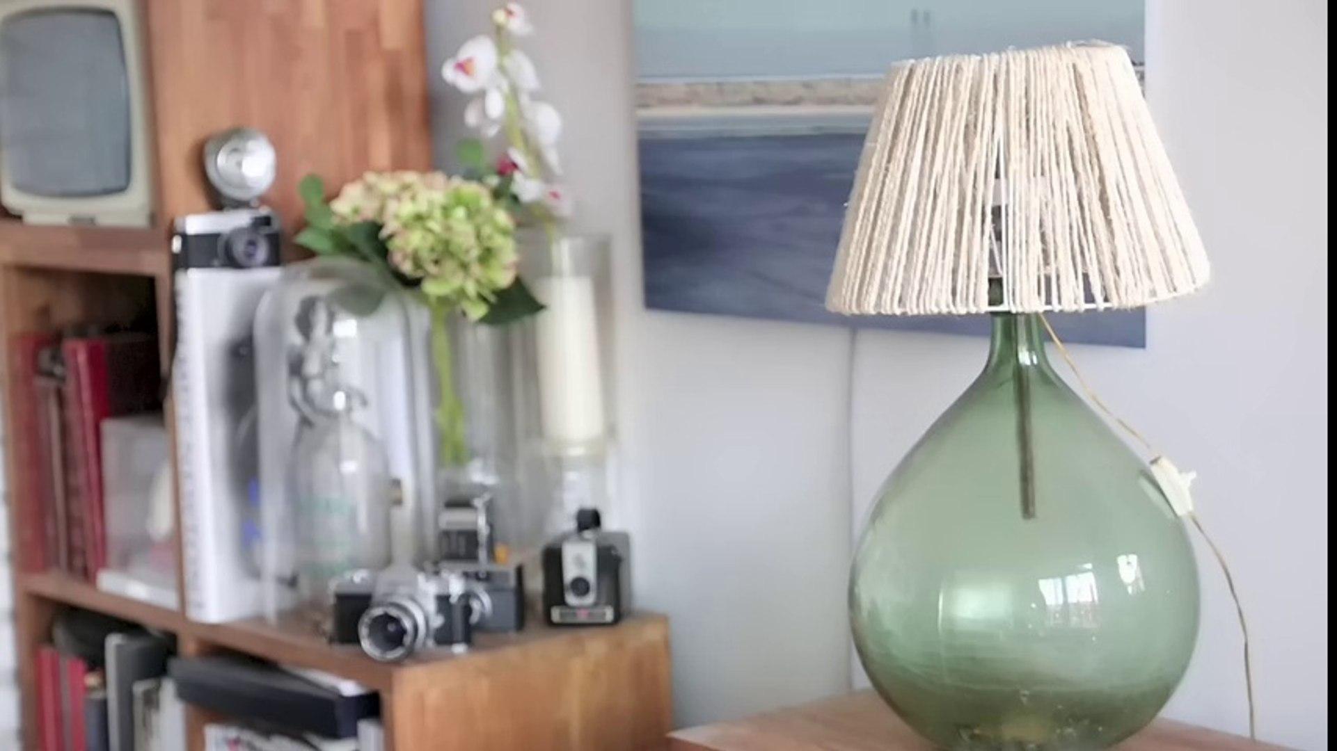 Comment Customiser Une Lampe De Chevet improviser une lampe à partir d'une bouteille en verre