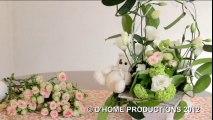 Une composition florale à offrir lors d'un baptême