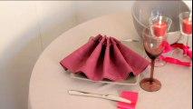 Pliage de serviette : l'éventail à plat