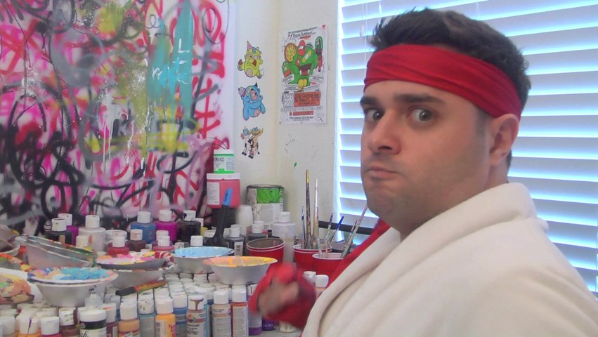 STREET FIGHTER RAP AND PAINTING