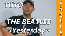 The Beatles - Yesterday - Cours Guitare ( Facile )