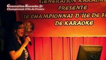 Mimi91  - Soirée de sélections du championnat d'île-de-France 2014 de karaoké au Palais d'été (Ris Orangis, 93) - Interprétation de Mimi91