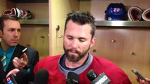Martin St. Louis after the Rangers morning skate at MSG