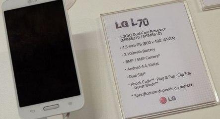 LG L70 Vs Nokia XL