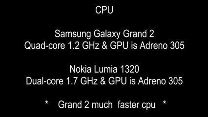 Samsung Galaxy Grand 2 vs Nokia Lumia 1320