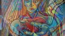 Peinture PORTRAITS visage - peinture contemporaine ©RYDLOVA Lucie 2014