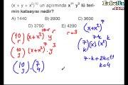 Binom açılımı soru çözümleri ders anlatımı 10. sınıf matematik ekol hoca