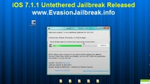 Evasion UNTETHERED iOS 7.1.1 Jailbreak Tool For iPhone 5, iphone 4, iPhone 3GS,