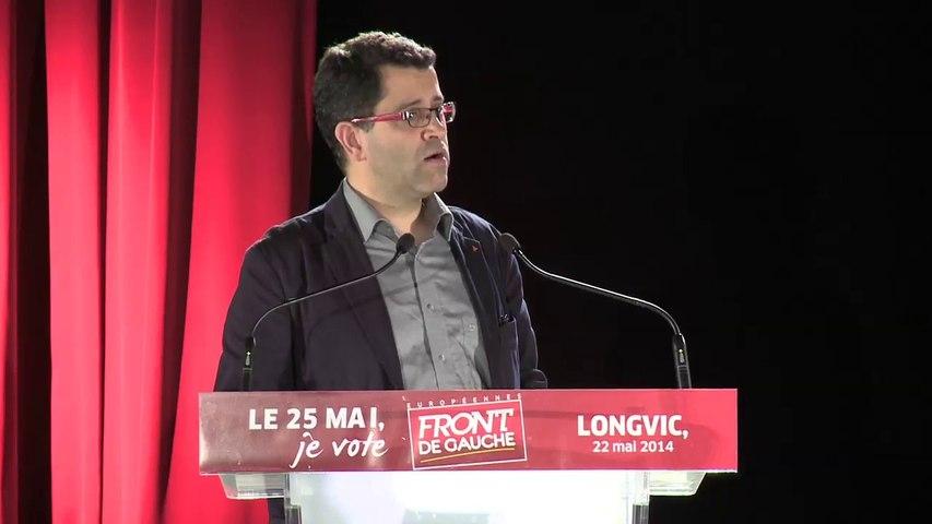 Discours de Gabriel Amard, tête de liste Front de Gauche - Européennes-Est, dans le grand dijon, le 22 mai