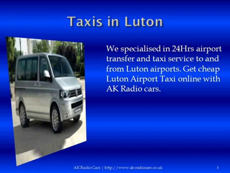 Cheap taxi to Luton Airport | AK Radio Cars