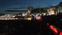 """Festival de Cannes 2014 : Tarantino, Travolta et Thurman fêtent les 20 ans de """"Pulp Fiction"""" à la plage"""