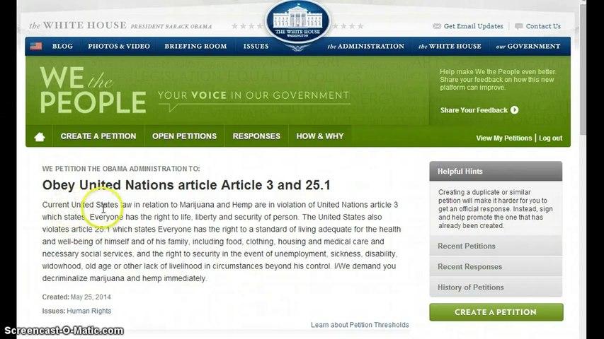 stop Obama from violating international law