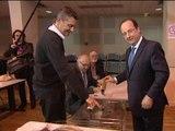 Européennes: François Hollande a voté à Tulle - 25/05
