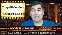 MLB Odds Philadelphia Phillies vs. LA Dodgers Pick Prediction Preview 5-25-2014