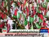 Media report on preparation of MQM Rally to express solidarity with Mr Altaf Hussain at Tibet Center Karachi