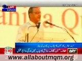 Haidar Abbas Rizvi speech on MQM Rally to express solidarity with Mr Altaf Hussain