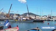Ambiance Voiles latines sur le port de Saint-Tropez