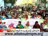 Women attending MQM Rally to express solidarity with Mr Altaf Hussain at Tibet Center Karachi