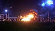 Incendio in centrale elettrica a Foggia