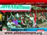 Disabled Persons & minorities attending MQM Rally to express solidarity with Mr Altaf Hussain at Tibet Center Karachi
