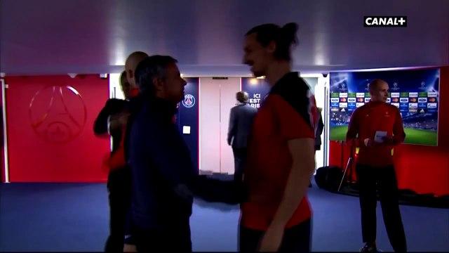 Jose Mourinho meets Zlatan Ibrahimovic ~ PSG vs Chelsea 3-1 Champions League