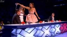 BGT 'Watergate' - Alesha Dixon tips water over David Walliams!