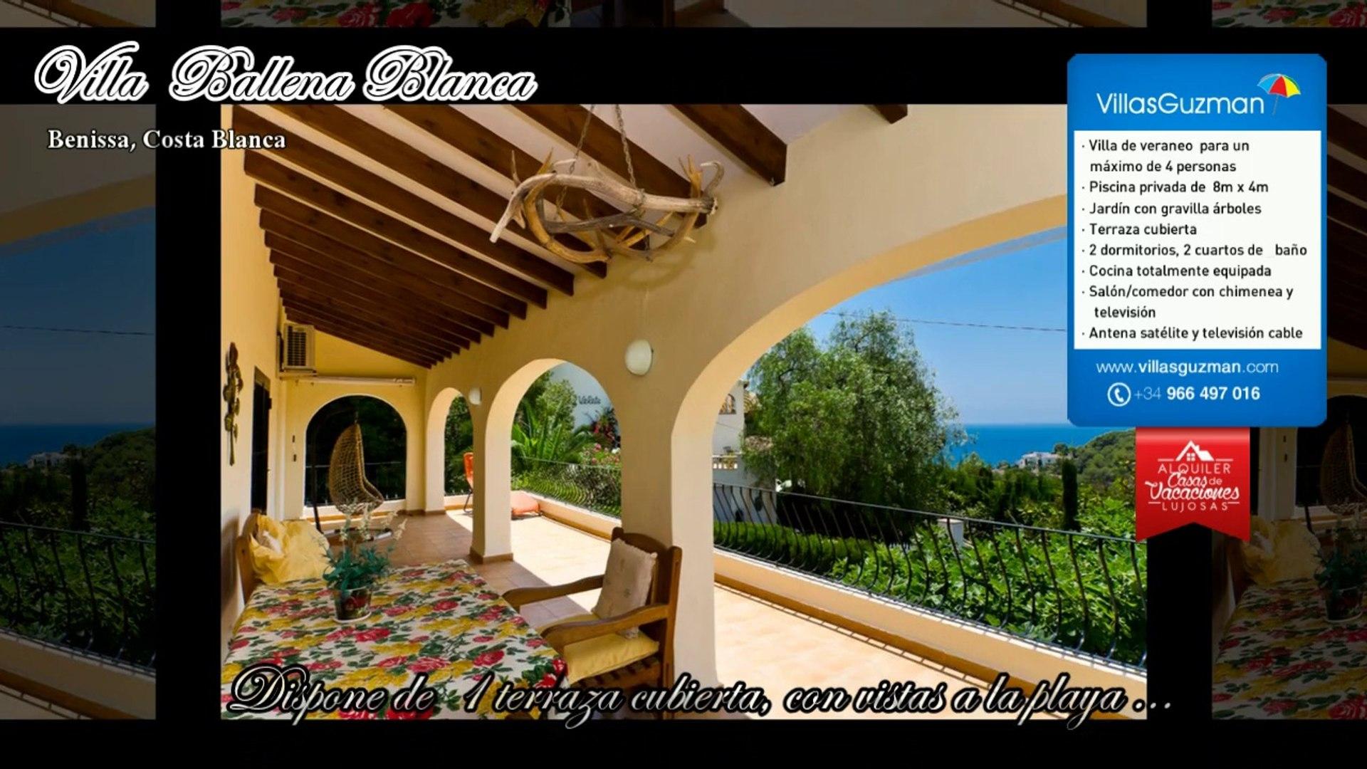 Alquiler Villas Benissa Costa Blanca Villa Ballena Blanca
