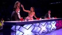 """Alesha Dixon jette son verre d'eau sur David Walliams dans """"Britain's Got Talent"""""""