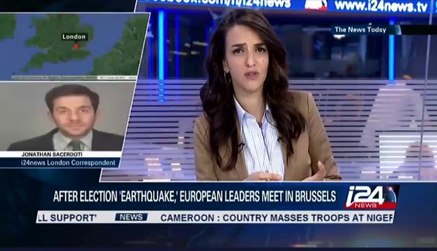 Jonathan Sacerdoti on i24news discussing European leaders' talks after the election results.