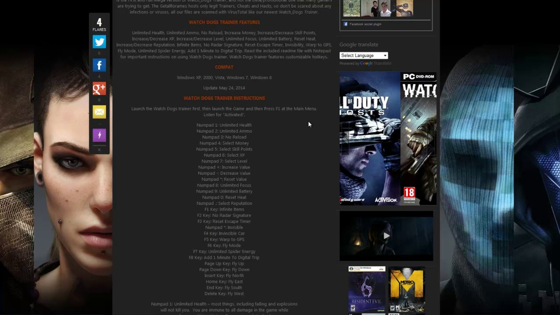 Watch Dogs Hack Trainer Generator 2014 Watch dogs Cheat Game Dailymotion