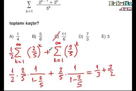 Seriler soru çözümleri videosu ekol hoca matematik