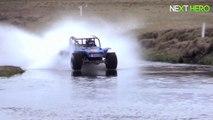 Record du monde de vitesse avec un buggy qui roule sur l'eau!