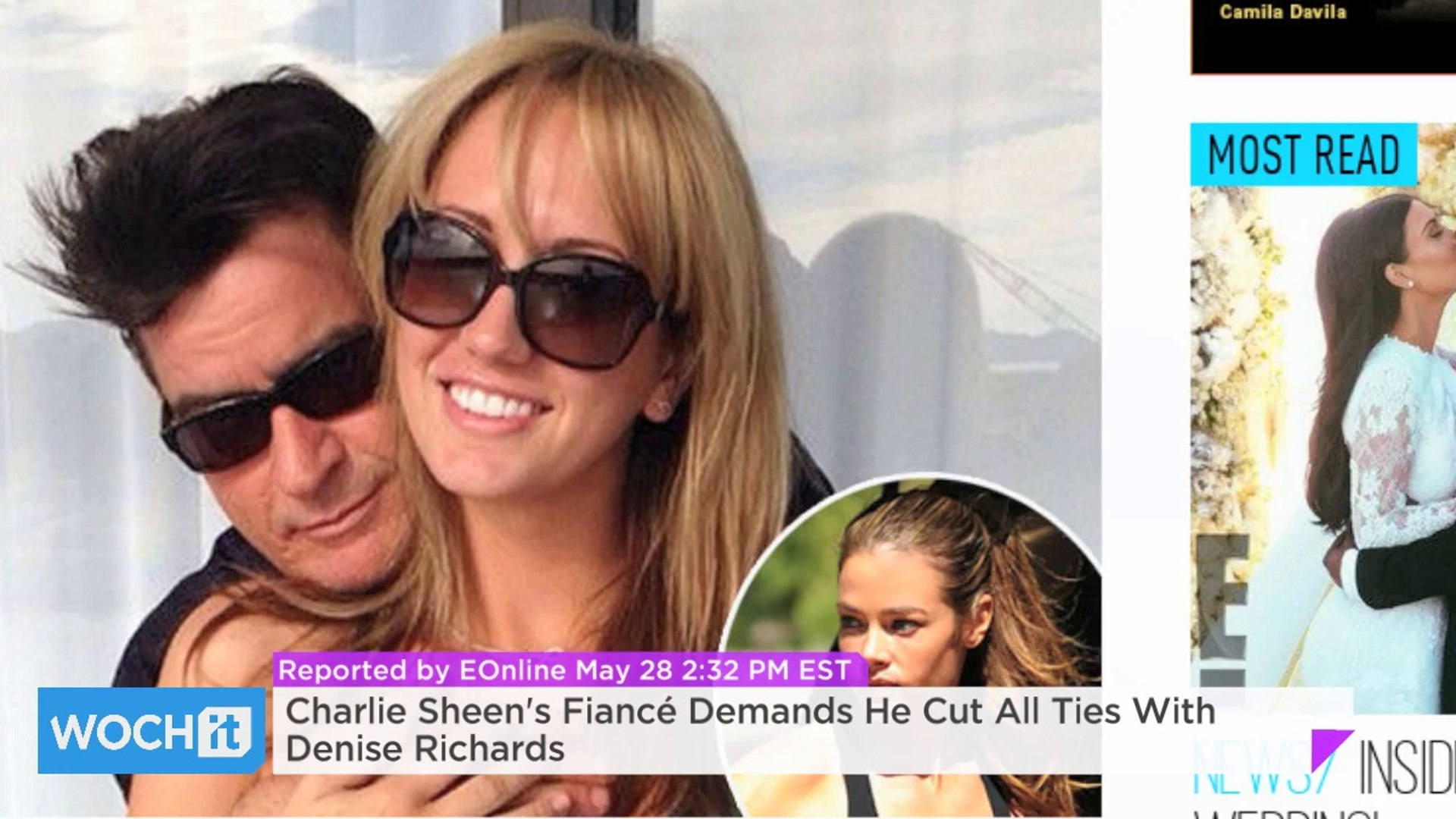 Charlie Sheen's Fiancé Demands He Cut All Ties With Denise Richards