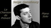 Serge Gainsbourg - La Chanson de Prévert - Piano Cover
