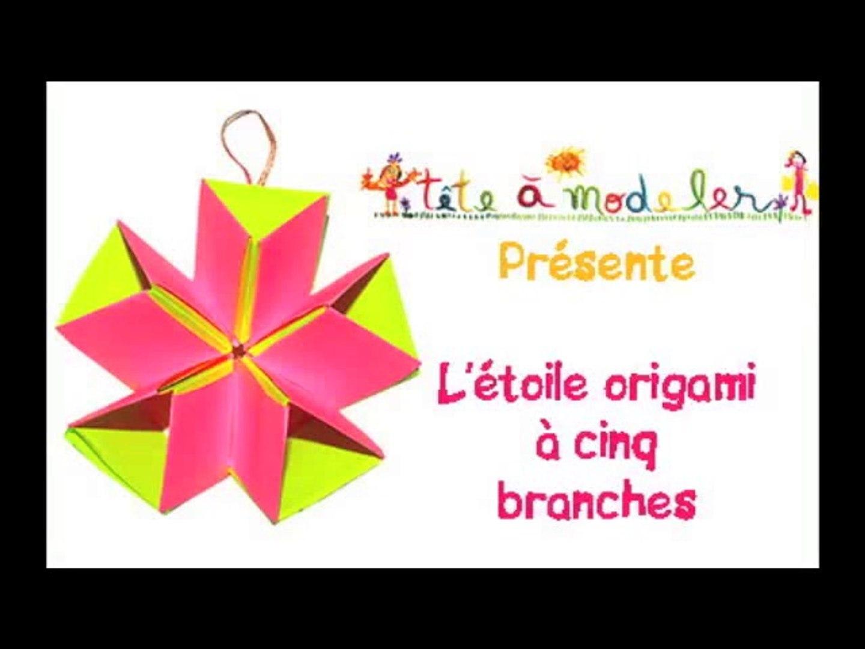 Etoile Origami à 5 Branches