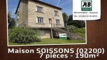 A vendre - maison - SOISSONS (02200) - 7 pièces - 190m²