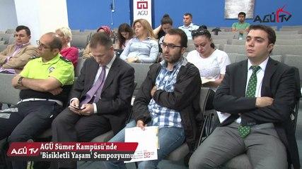 """AGÜ'de """"Bisikletli Yaşam'' Sempozyumu"""