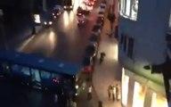 Halk Otobüsü Şoförü Otobüsü İle Barikat Kurdu !