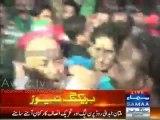Clash between PML N & PTI Workers in Multan , PML N Worker ran away after GO NAWAZ GO chants