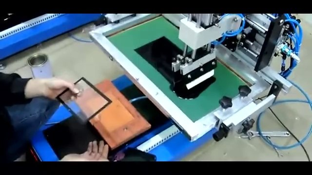Desktop Flat Screen Printing Machine with Sliding Table