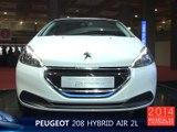 La Peugeot 208 HYbrid Air 2L en direct du Mondial de l'Auto 2014