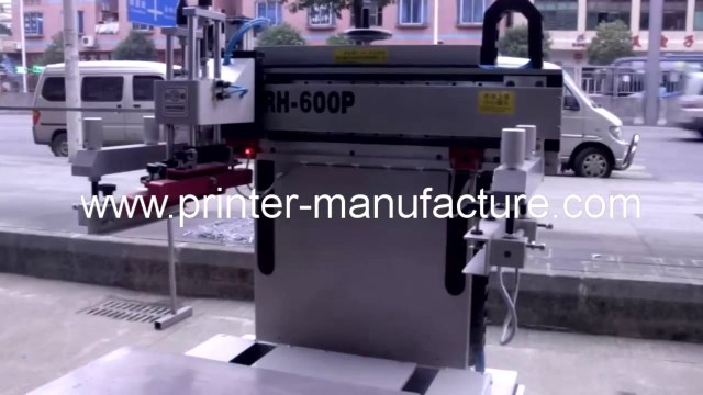 Flat Screen Printer with Sliding Vacuum Table Flatbed Screen Printer