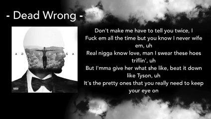 Dead Wrong - Trey Songz ft. Ty Dolla $ign (Lyrics)