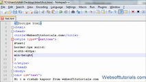 html and css Tutorial - 25 - height, width, min-height, max-height in css