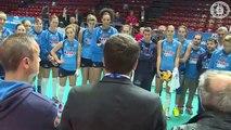 Assago (MI) - Renzi saluta la nazionale femminile di pallavolo (08.10.14)