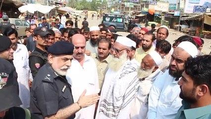 IGP Nasir Khan Durrani meeting with the Locals at Shabqadar Bazar