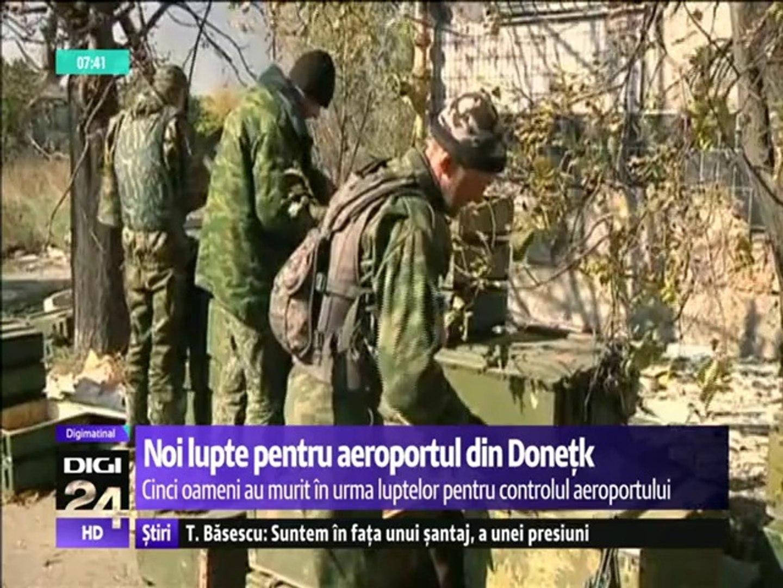 Lupte pentru controlul aeroportului din Doneţk. Cel puţin cinci oameni au murit în estul Ucrainei în