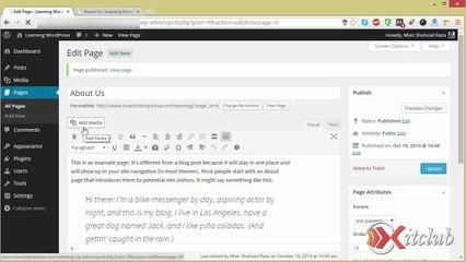 04 - Manage Pages - WordPress 4.0 Tutorial in Urdu/Hindi